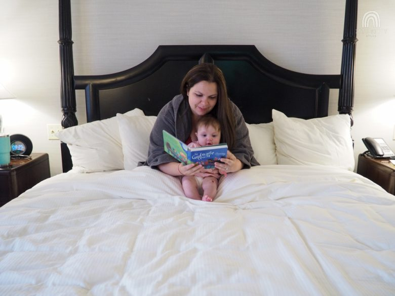 reading with baby